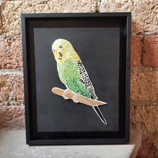Pet Portrait Commission - stained glass