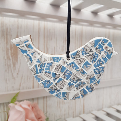 Bluebird Hanging Mosaic Decoration