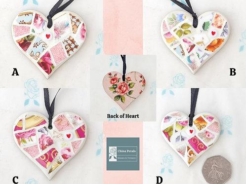 Mini Hanging Mosaic Hearts