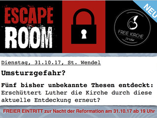 ESCAPE ROOM -  Nacht der Reformation