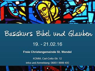 """Basiskurs """"Bibel und Glauben"""""""