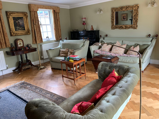 Clients living room after a general clean.