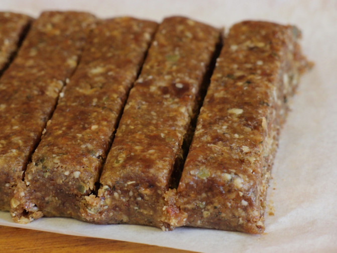 Raw Vegan Protein Snack Bar Recipe