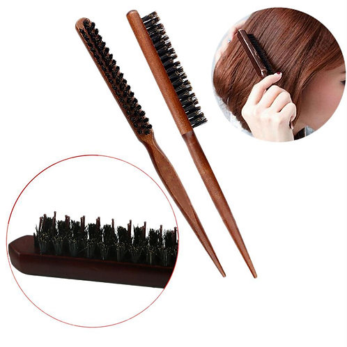 High Quality Wood Handle Natural Boar Bristle Hair Brush  Styling Tools