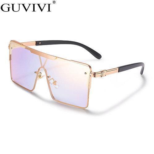 Luxury Brand Square  2020  Over-sized  Ladies Vintage Sunglasses Retro