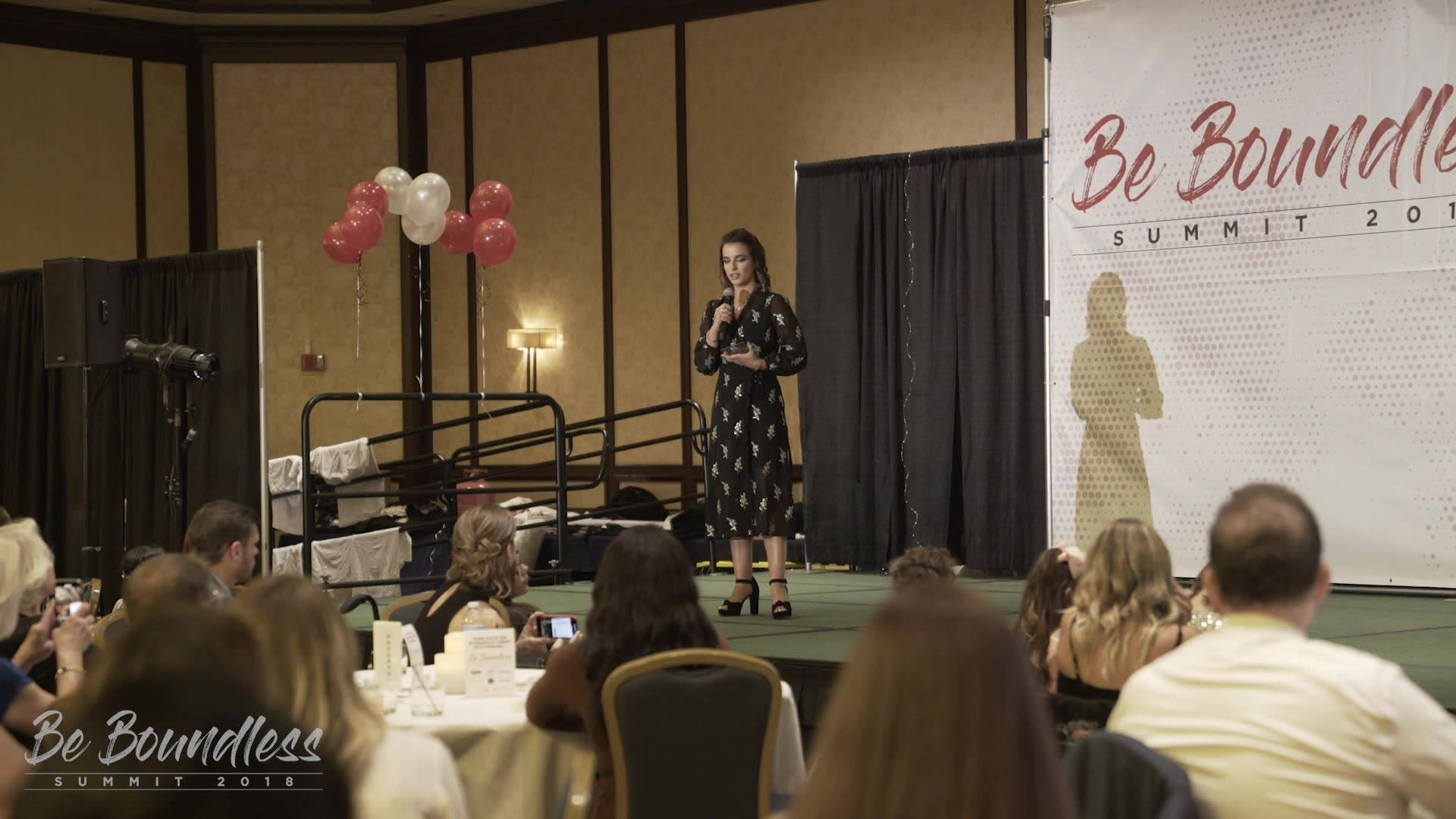 """""""Rock Your Disability"""" ~ Victoria Arlen (ESPN Host/Dancing with the Stars/Paralympian gold medalist)  Victoria was awarded the Breakthrough Award at the Be Boundless Summit presented by the Rollettes Experience. Watch her amazing acceptance speech. #"""