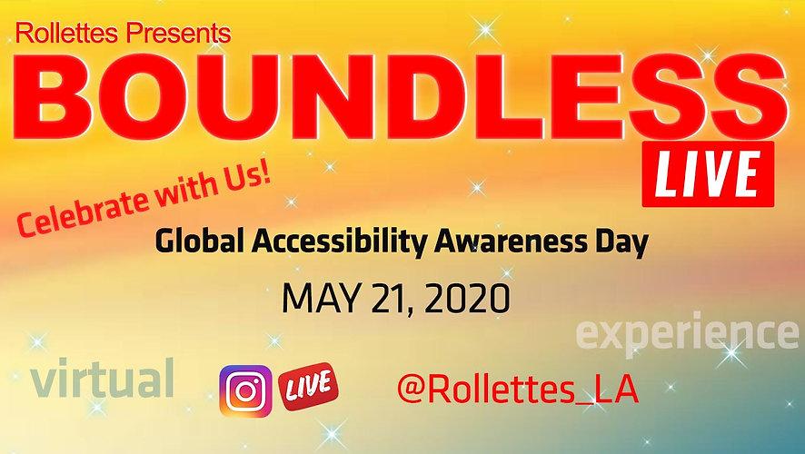Rollettes Boundless Live GAAD Postcard v