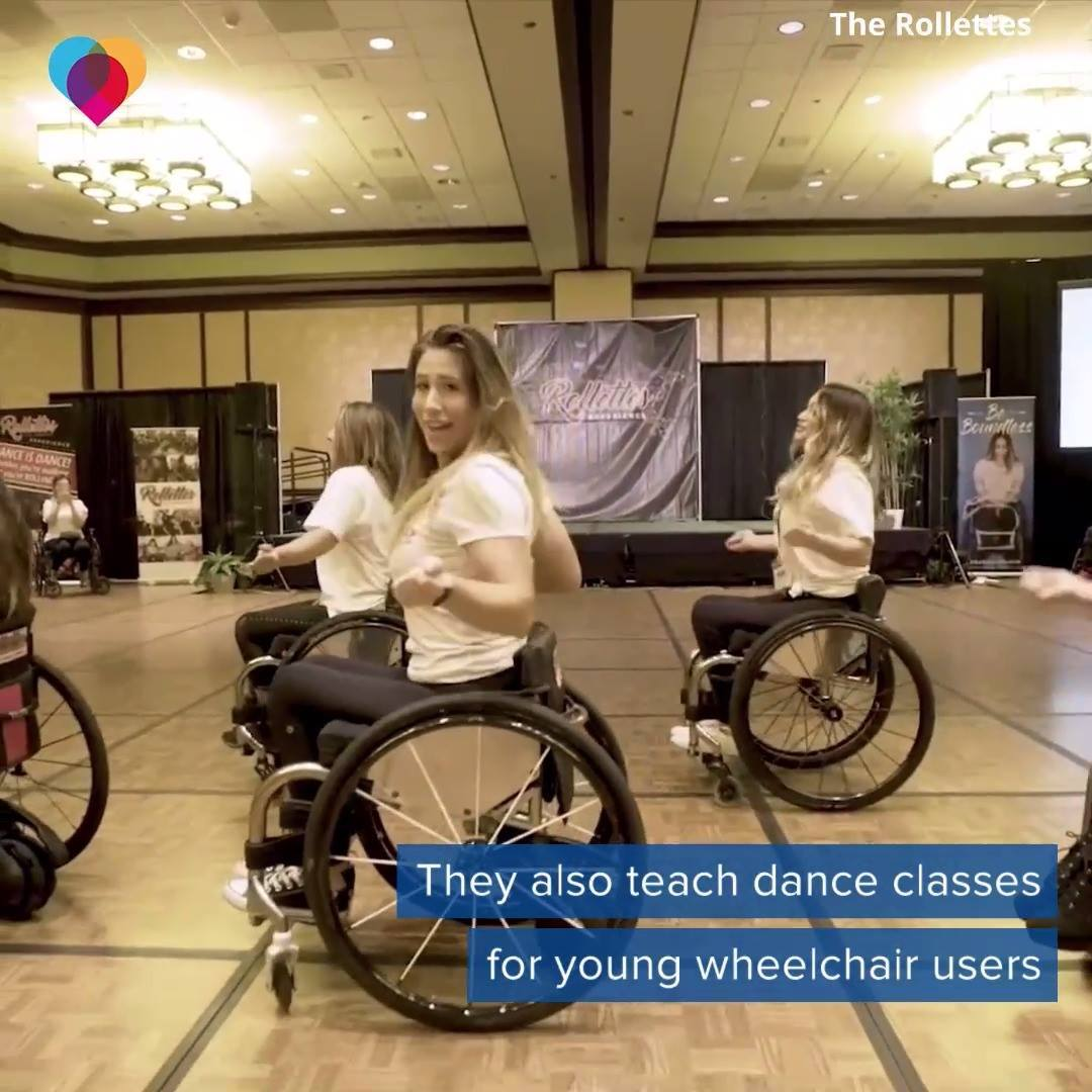 Dancers in wheelchairs inspire young girls