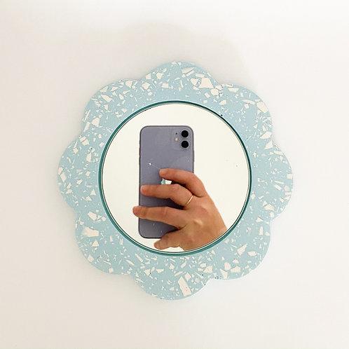 Miroir Fleur Bleu