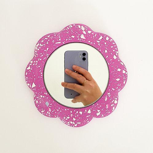 Miroir Fleur Fushia
