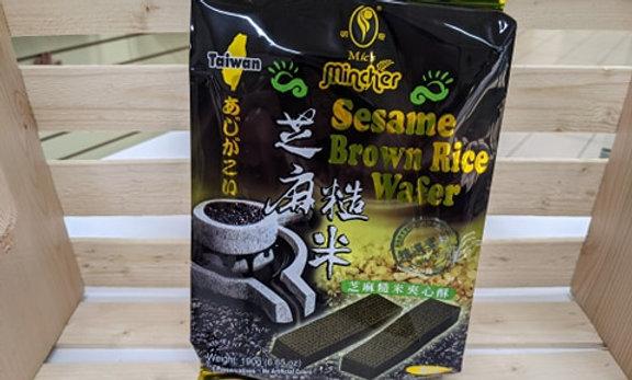 Sesame Brown Rice Wafers