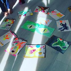 Kids art class tonight was wonderful! Ju