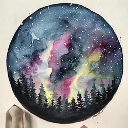 Starry night sky..