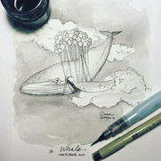 WHALE_Day 12 of 31 #inktober2018_Winifre