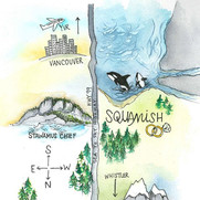 Squamish Map made for a lovely couple ge
