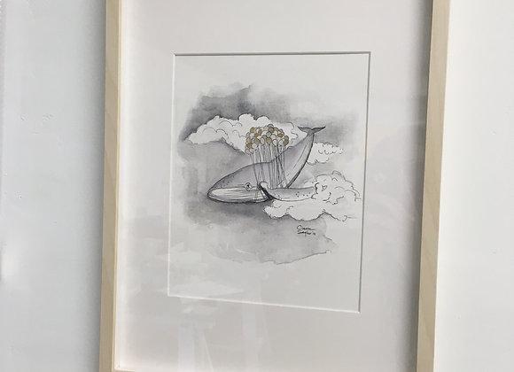 """Framed 12x16"""" Animal Spirit Print"""