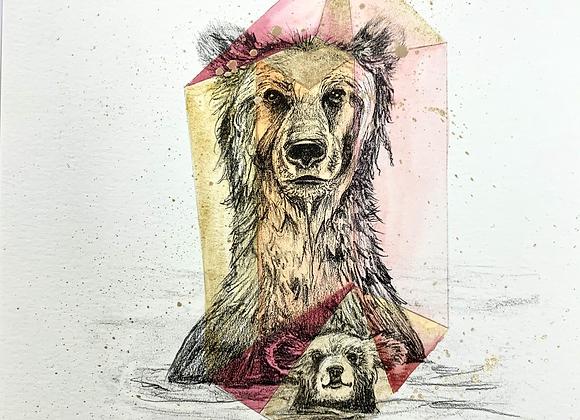 Embellished Animal Print, Framed