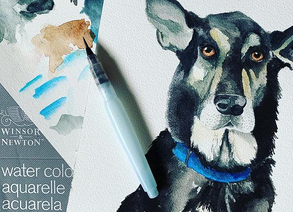 Custom Watercolour Animal Portrait