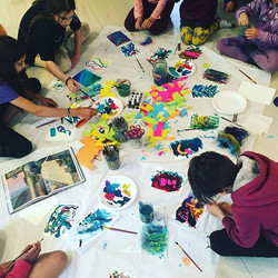 Abstract Art - kids art exploration clas