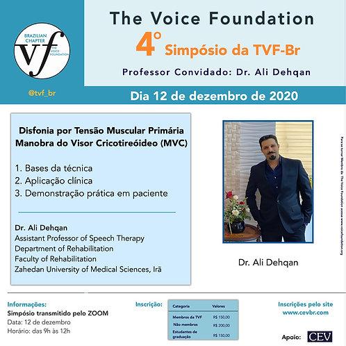 IV Simpósio da TVF-Brasil | Dr. Ali Dehqan