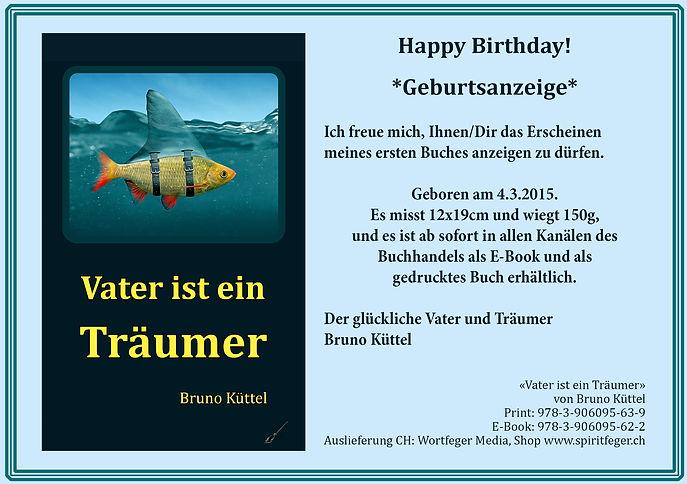 Vater ist ein Träumer - Buch von Bruno Küttel