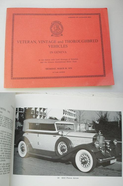 Veteran, Vintage and Thoroughbred Vehicles in Geneva