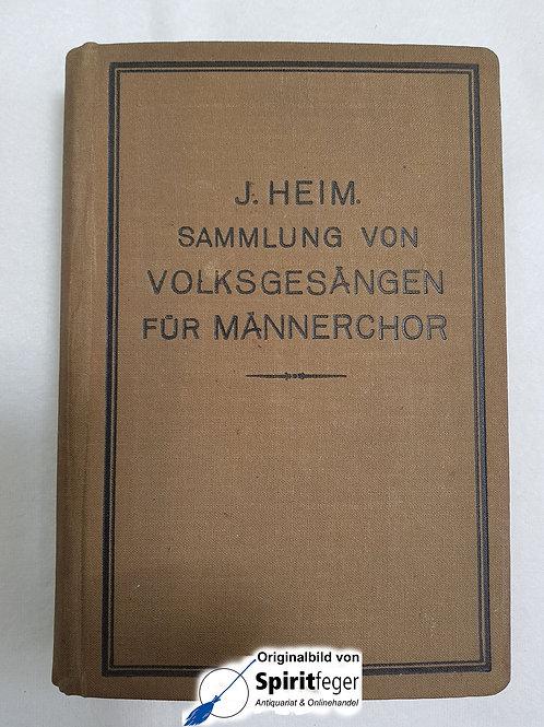 Sammlung von Volksgesängen für Männerchor - 1919