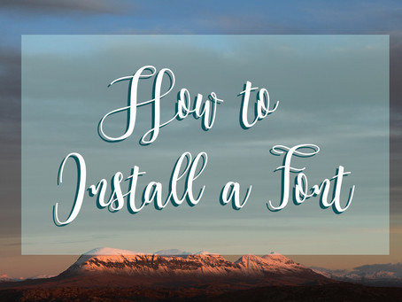 How to Download & Install a New Font