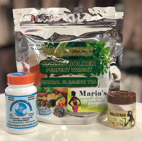 Semilla De Brazil,Eergybolizer Pill PM & Energybolizer Tea