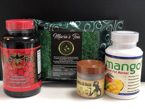 Semilla De Brazil, Mango With Nopal Extract,Bee Fit Advanced & Maria's Tea