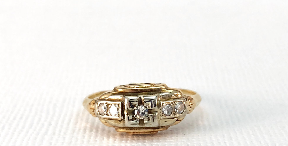 Victorian Two Toned Gold Engagement Ring