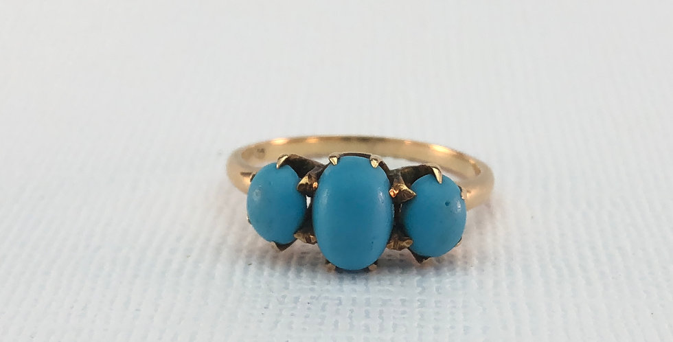 Antique Turquoise Cabochon Ring