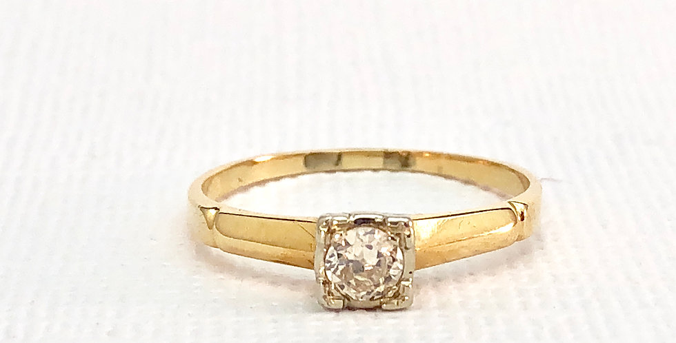 Antique Two Toned Gold Solitaire