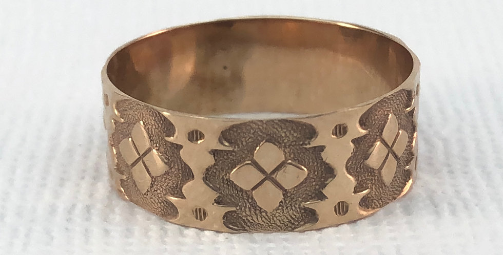 Victorian Antique Gold Cigar Band