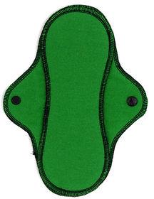 green reusable menstrual pad