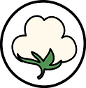 circular icon with cotton plant