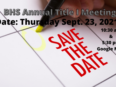 BHS Annual Title I Meeting