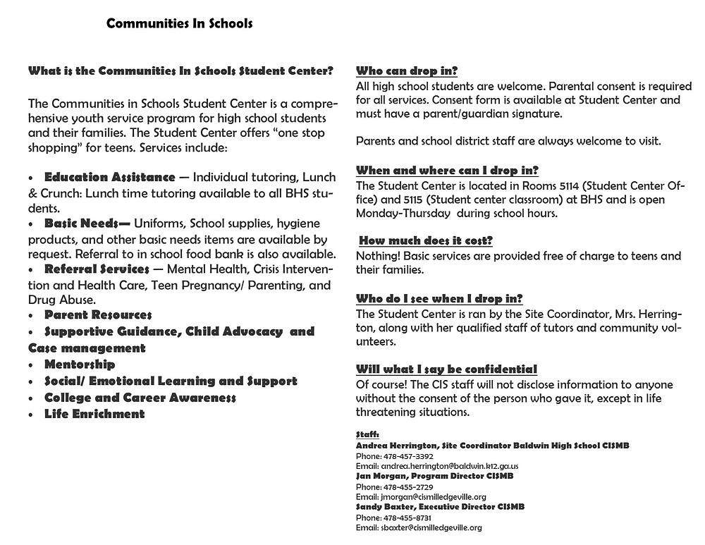 what is communities in school?
