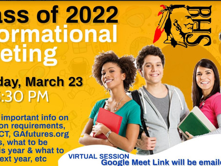 BHS Class of 2022 Informational Meeting