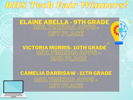 BHS Tech Fair Winners