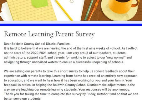 REMOTE LEARNING PARENT SURVEY