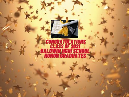 Congratulations Class of 2021 BHS Honor Graduates