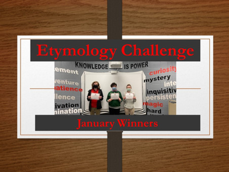 Etymology Challenge Winners