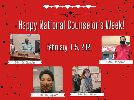 BHS Celebrates Our Counselors during National Counselors Week