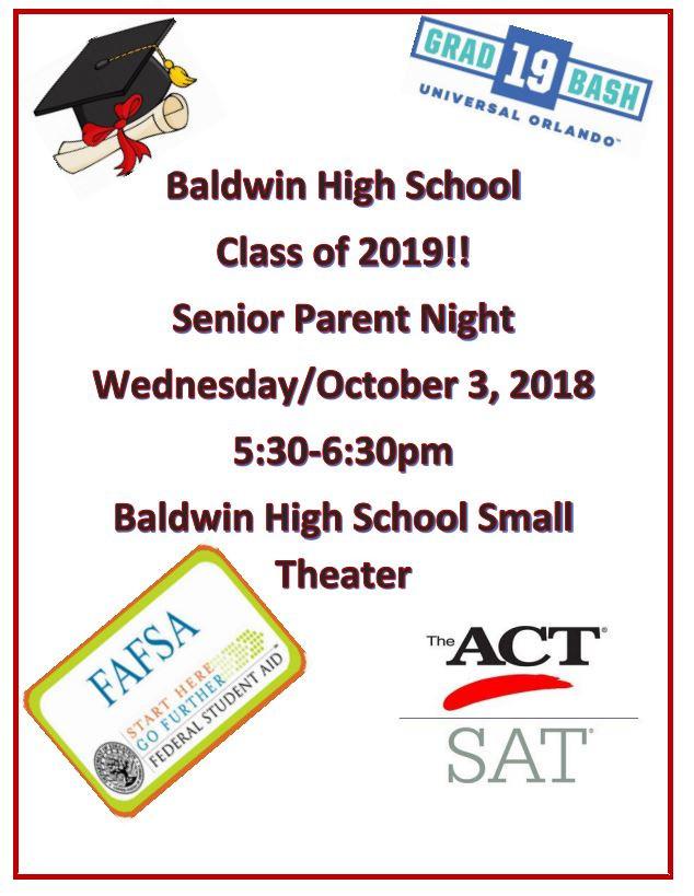 BHS Senior Meeting