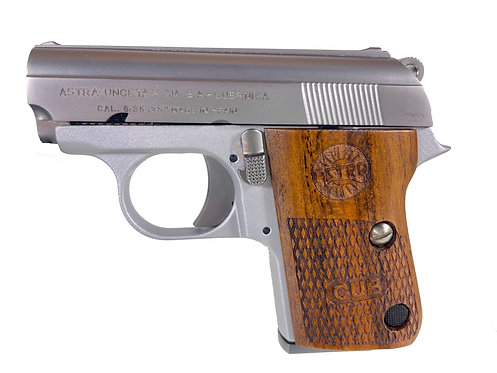 FCW x WE CT25 GBB Pistol ABS Lower Silver Astra Cub with Kimpoi Wood Grip Custom