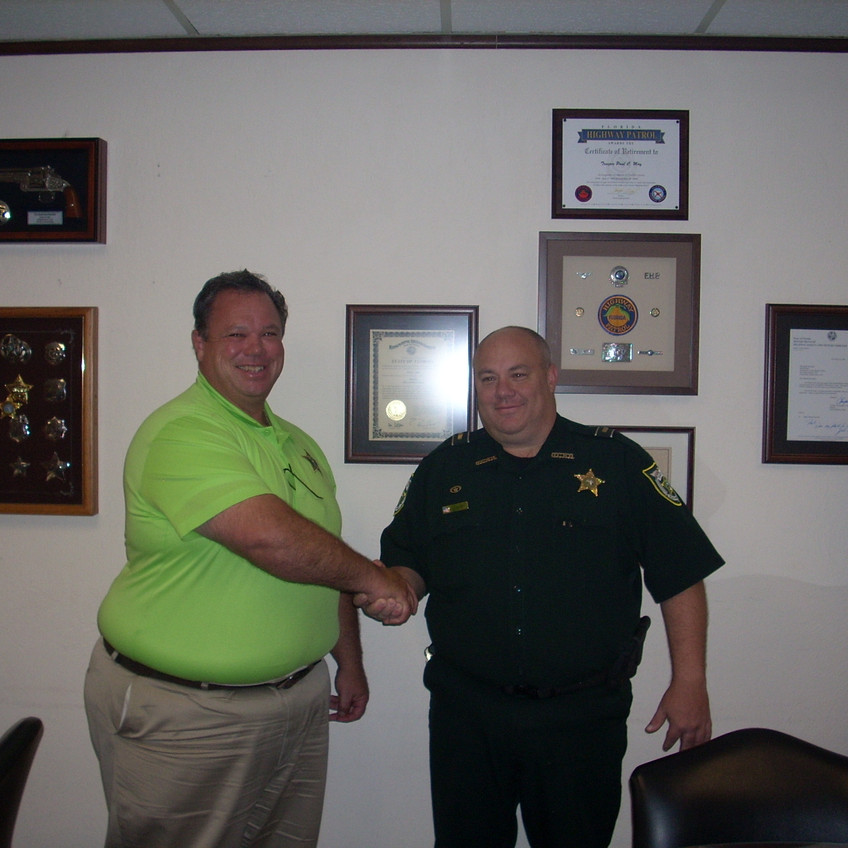 undersheriff and capt deloney