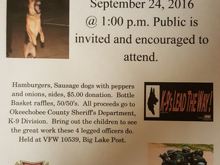 K-9 Demonstration and Fundraiser