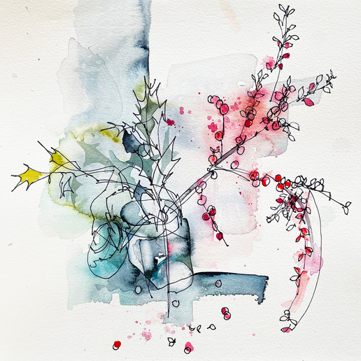 Lin Kerr - Dialogue Holly and Cotoneaster