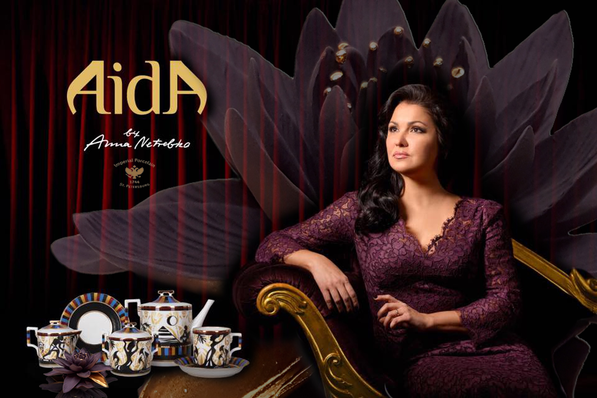 Anna Netrebko tea set Aida
